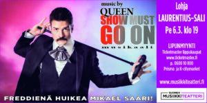 Show Must Go On Lohjan Laurentius-salissa 6.3. klo 19