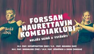 Improvisaatioteatterit ympäri Etelä-Suomea vierailulle Forssaan!